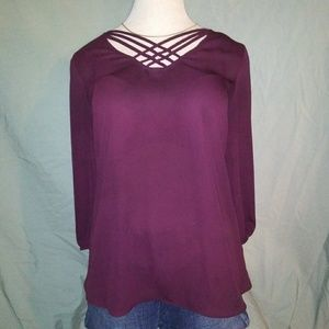 Maurices Top. Plum. Size small.